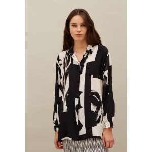 GRENADINE - Printed silk shirt