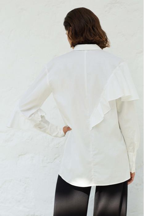 YOKO - Ruffle pima cotton shirt