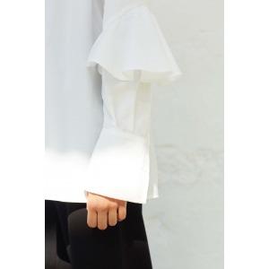 YOKO - Chemise à volants en coton pima