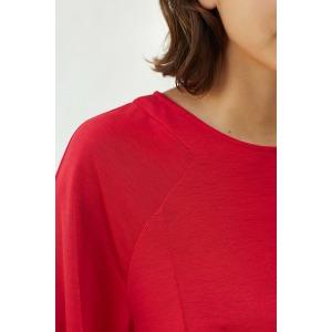 ADAGIO rouge - T-shirt en jersey flammé