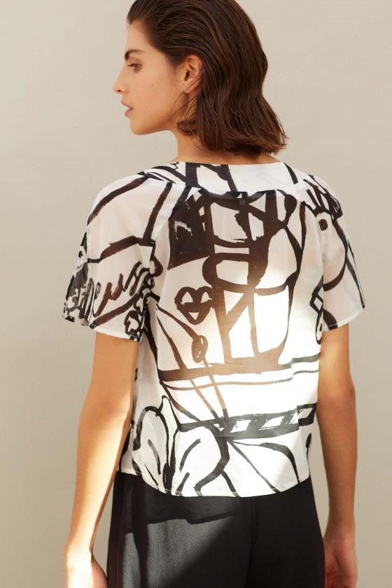 EDWIN - Printed cotton crop top