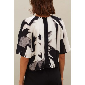 GENOIS - Printed silk top
