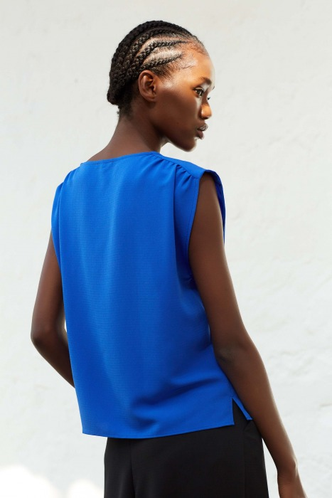 LISE tank top in electric blue