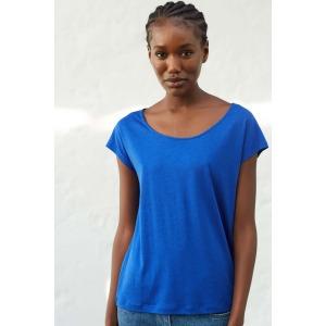 T-shirt manches courtes OPUS bleu électrique