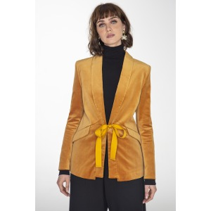 Velvet jacket MAINATE camel