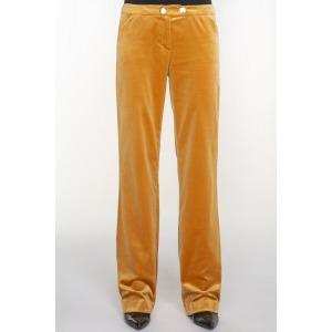Pantalon large en velours MAMBA camel