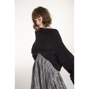 HUSKY black - Wool oversized sweater