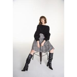 HUSKY black - Wool oversized sweater