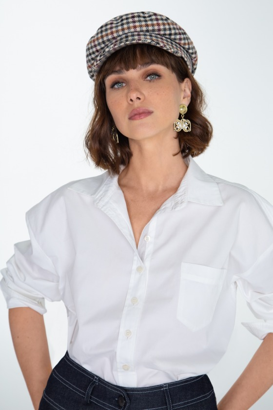 Chemise en coton pima BRUANT blanc