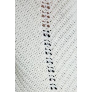 HUSKY blanc - Pull oversize en laine