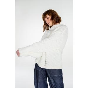 HUSKY white - Wool oversized sweater