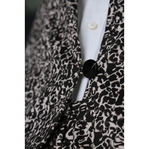 JARVIL black - Long sleeves printed cotton short jacket