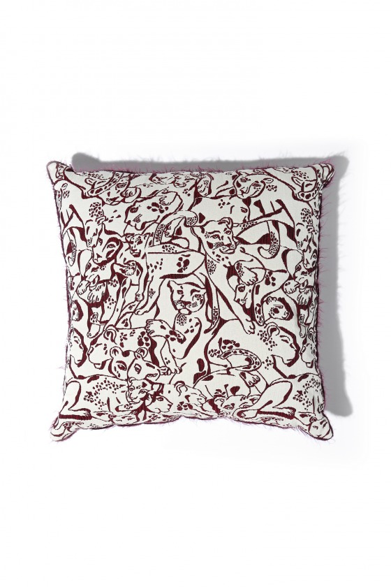 NELLA panther print cushion cover 40x40
