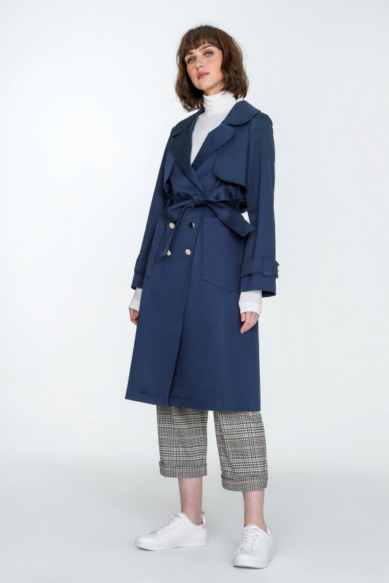 YOUNG - Cotton Trench Coat