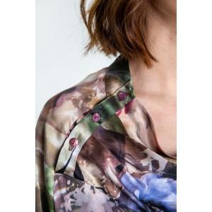 Blouse en soie -  Newrose fleurs