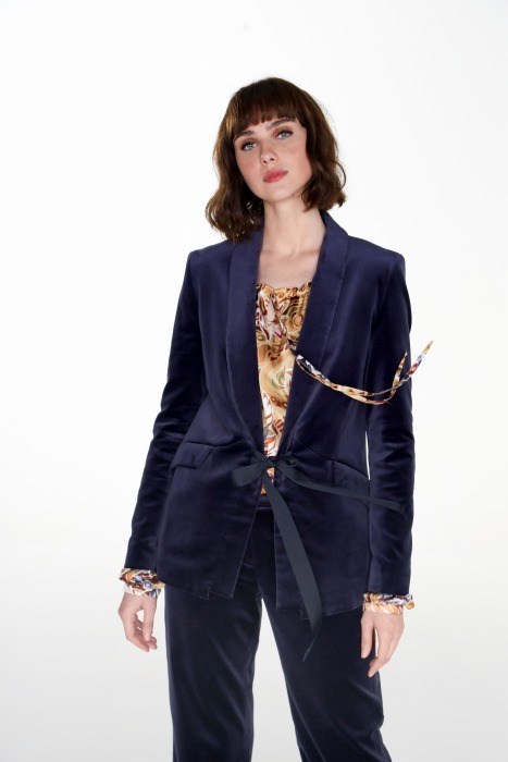 Velvet jacket MAINATE blue