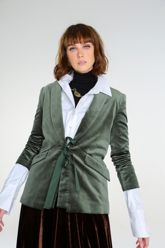 Velvet jacket MAINATE green