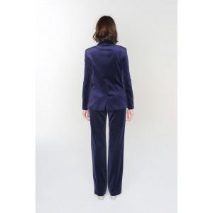 Pantalon large en velours MAMBA bleu