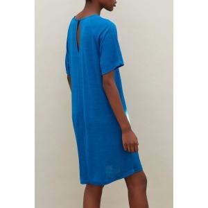 AMANDE bleue - Robe en jersey flammé
