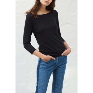 OLAF noir - T-shirt manches 3/4