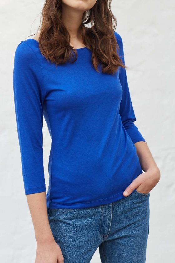 OLAF bleu électrique - T-shirt manches 3/4