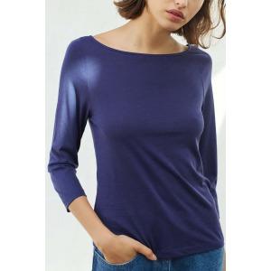 OLAF navy blue - 3/4 sleeves T-shirt