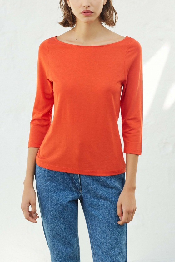 OLAF rouge - T-shirt manches 3/4
