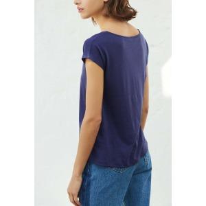 OPUS navy blue - short sleeves t-shirt