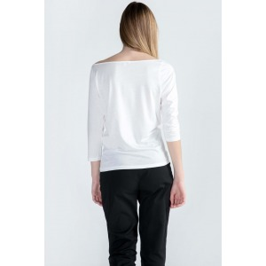 Boat neckline 3/4 sleeves T-shirt CANNELLE