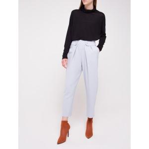 Pantalon taille marquée LEZARD gris bleuté