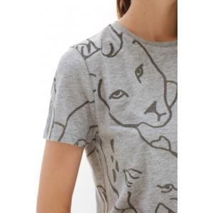 ARI gris - T-shirt manches courtes en coton imprimé