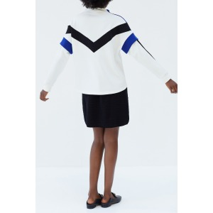 JET blanc - Sweat-shirt esprit sport avec jeu de découpes