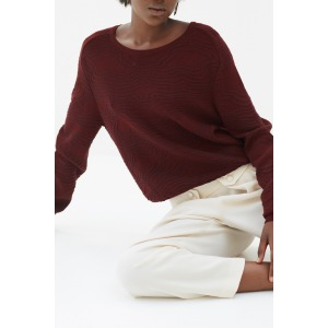 ZUCCA rouge - Pull en maille jacquard