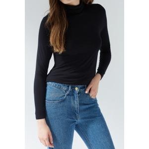 PAPILLON black - Long sleeves turtleneck t-shirt