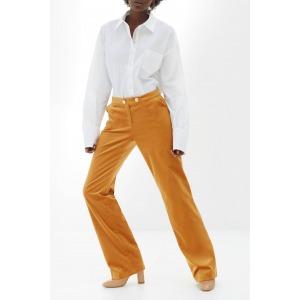 Wide-leg velvet trousers MAMBA camel