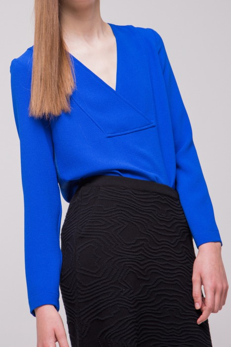 LIS electric blue - Long sleeves top