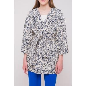 Cotton jacquard kimono style jacket CAT beige