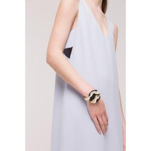 GALIA blanc - Bracelet en métal doré et plexi