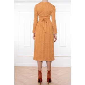 LONG DRESS WATTRELOT BROWN