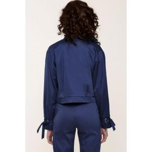 GATSBY bleu - Veste en satin de coton