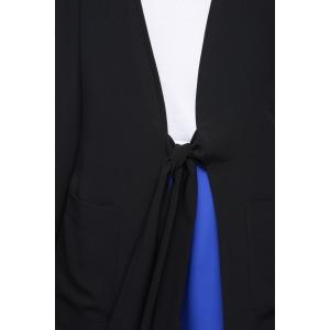 LEO noir - Veste taille nouée