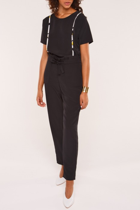 ALLIOT - trousers with waist tie