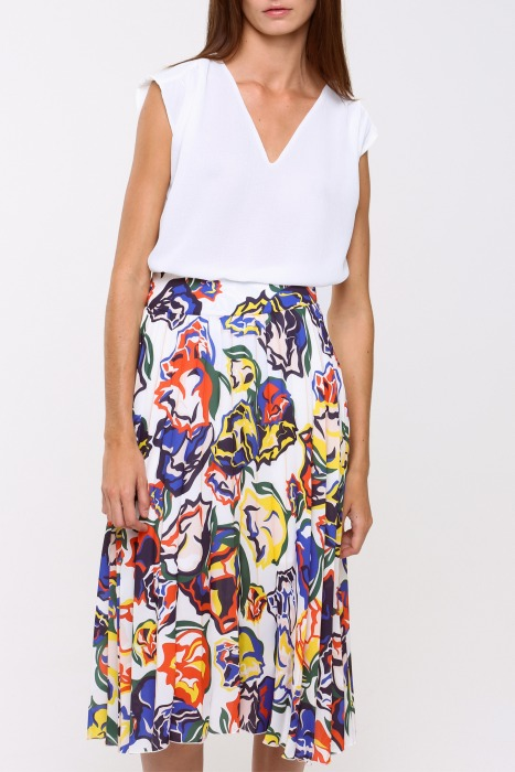 DARLING white - Pleated skirt