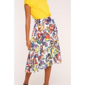 DARLING white - Pleated skirt