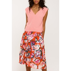 DARLING red - Pleated skirt