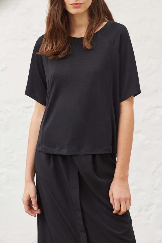 ADAGIO noir - T-shirt en jersey flammé