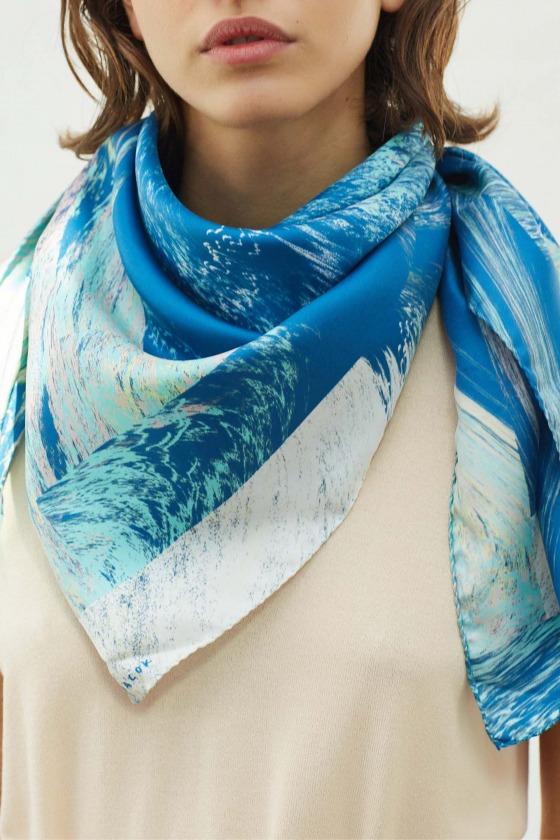 PALAS - printed silk square scarf