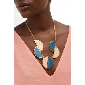 VERANA blue - Resin and gilt metal necklace