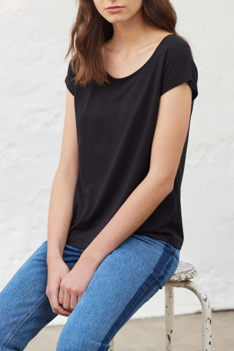 OPUS black - short sleeves T-shirt