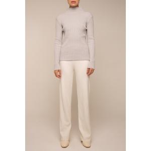 Pantalon en maille droit blanc